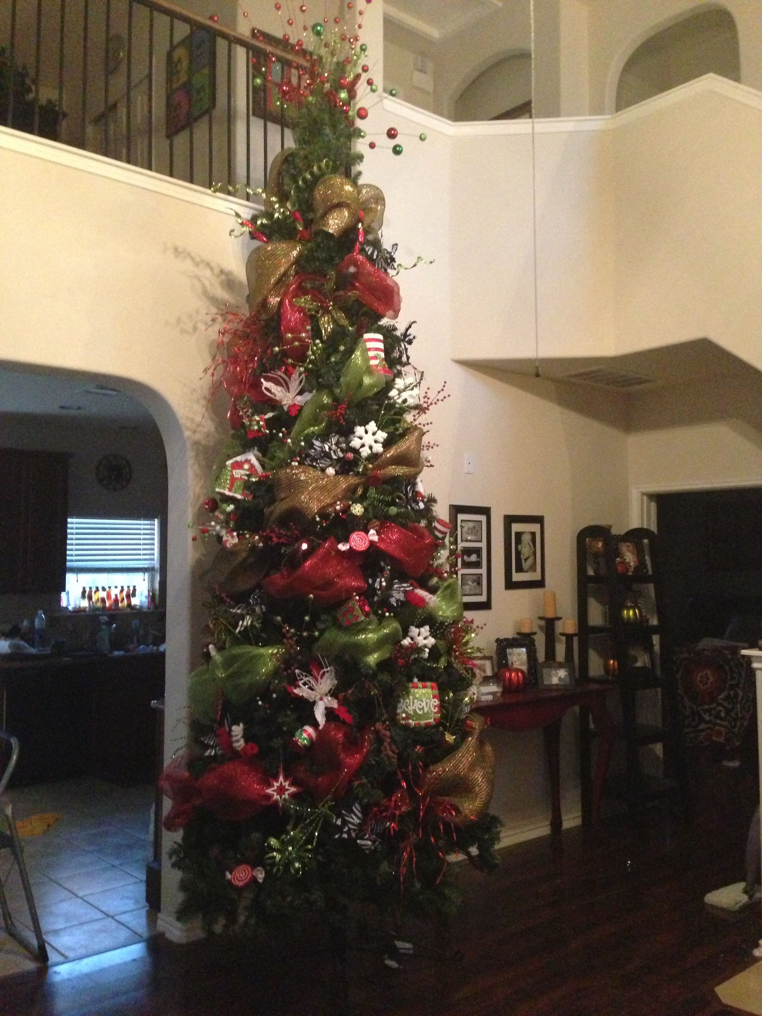 Best Deco Mesh 12 Ft Christmas Tree Things I Made Myself This Month