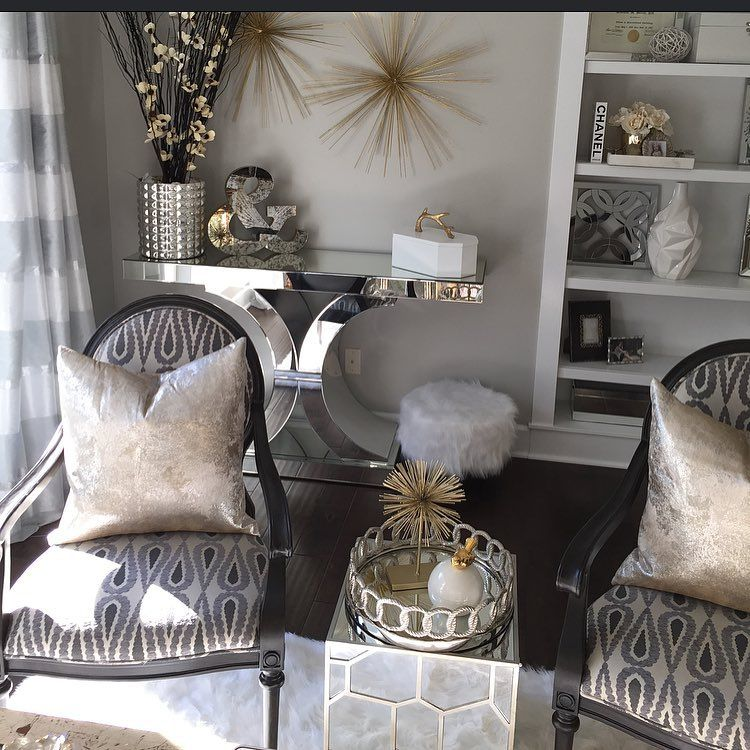 Best Pin By Shasha Duchemin On Decor Silver Bedroom Decor Gold Office Decor Gold Bedroom Decor This Month