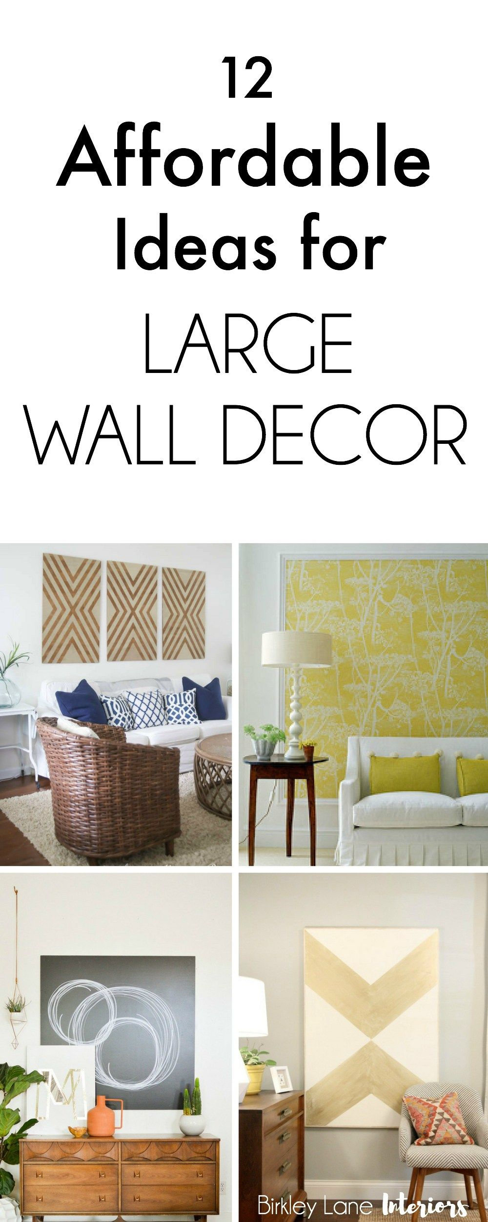Best 12 Affordable Ideas For Large Wall Decor Birkley Lane This Month