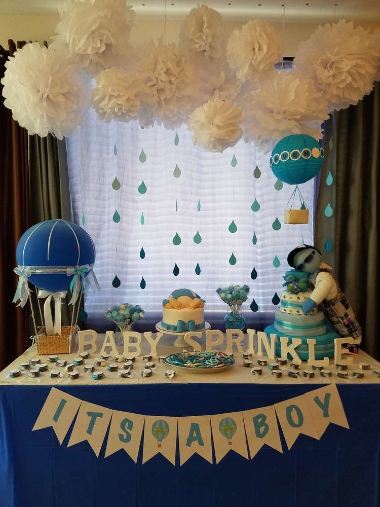 Best Heaven Sent Baby Shower Party Ideas Boy Baby Shower This Month