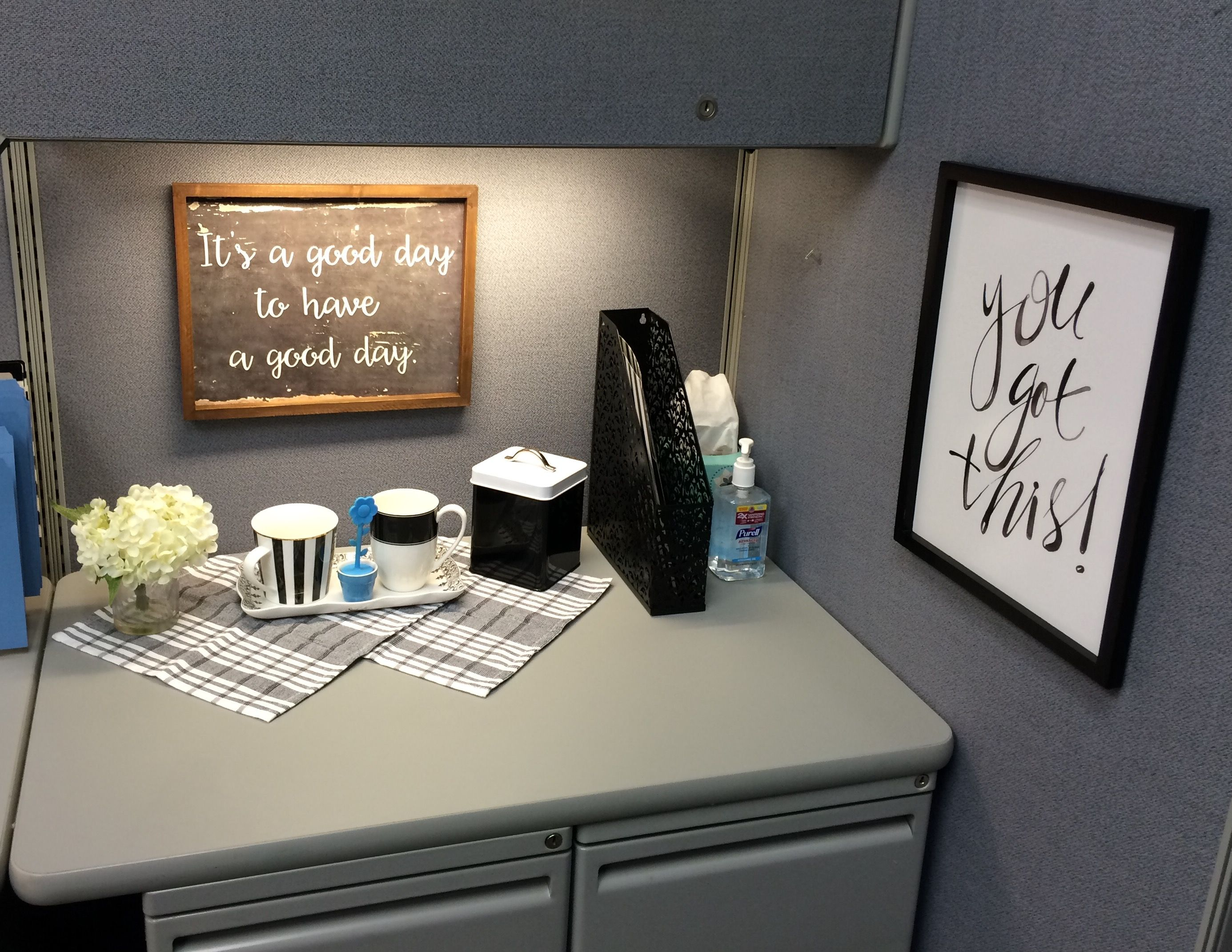 Best Chose To Go With Black And White With Accents Of Blue And This Month
