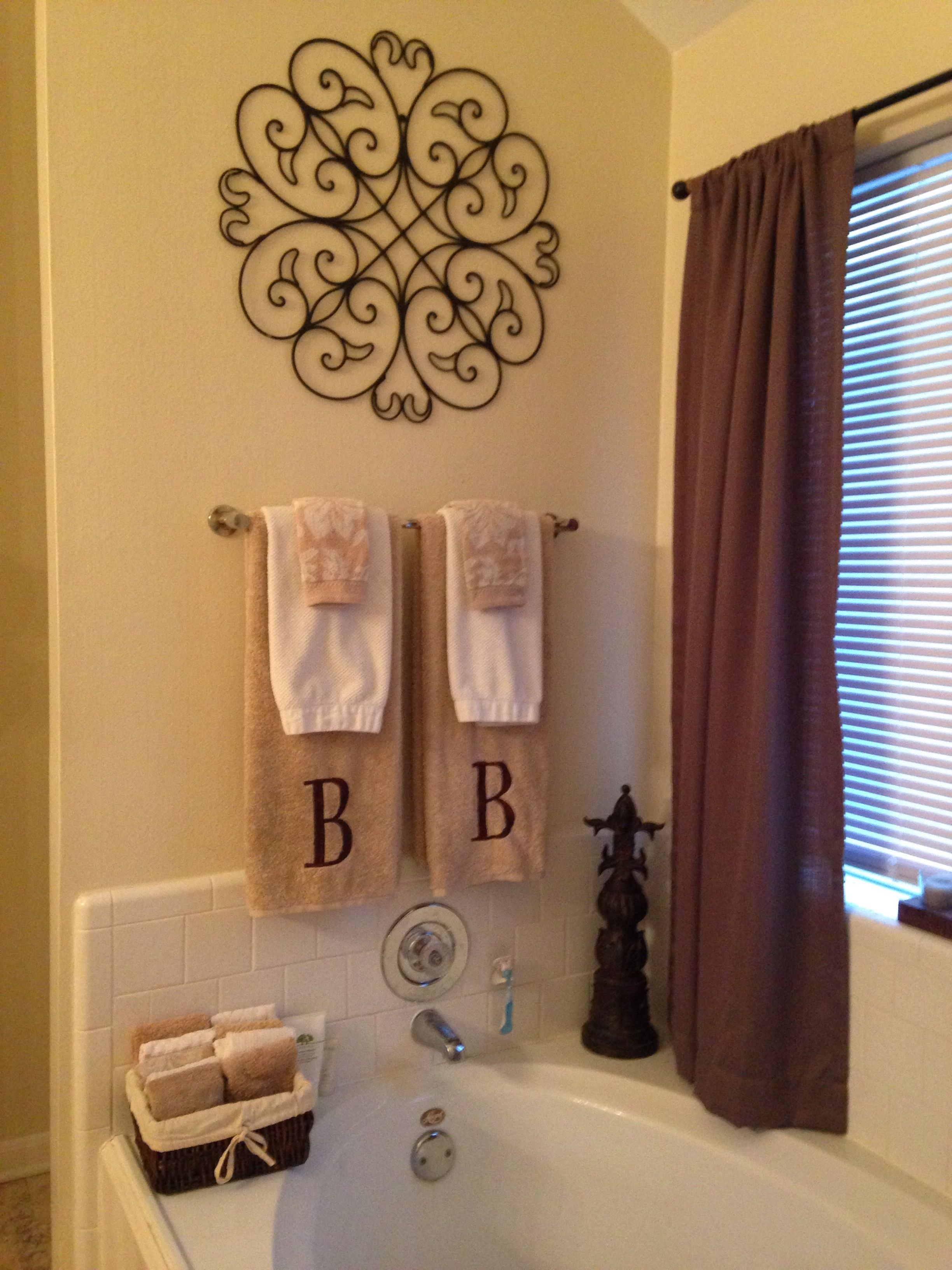 Best Master Bathroom Decor My Diy Projects Bathroom Towels This Month