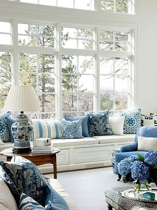 Best Navy Blue And White Chinoiserie Chic My Cushion This Month