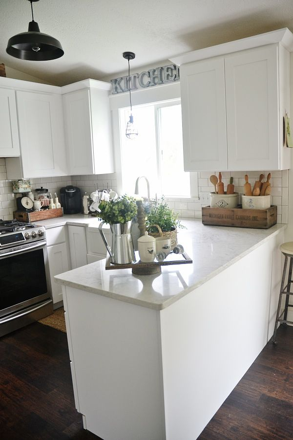 Best Early Summer Home Tour Kitchens Countertop Decor This Month