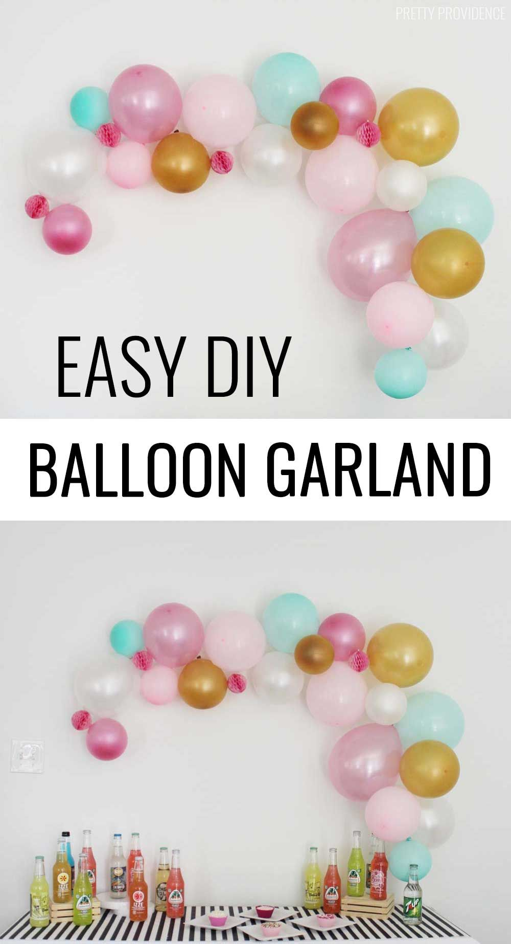 Best Diy Balloon Garland Blogger Home Projects We Love This Month