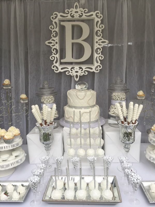 Best Diamonds And Pearls Candy Buffet All White Party This Month