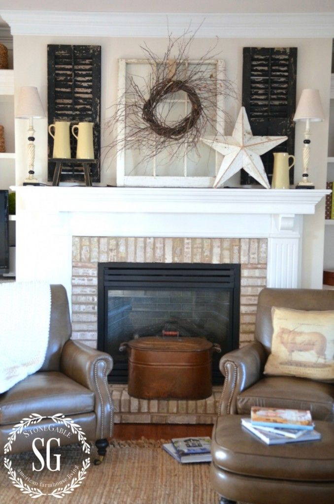 Best Simple Farmhouse Style Mantels For All Seasons This Month