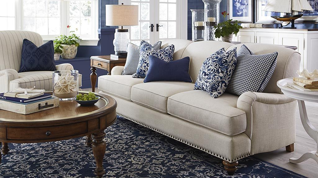 Best Taupe Sofa With Navy Ivory Rug Living Room Theme In 2019 This Month