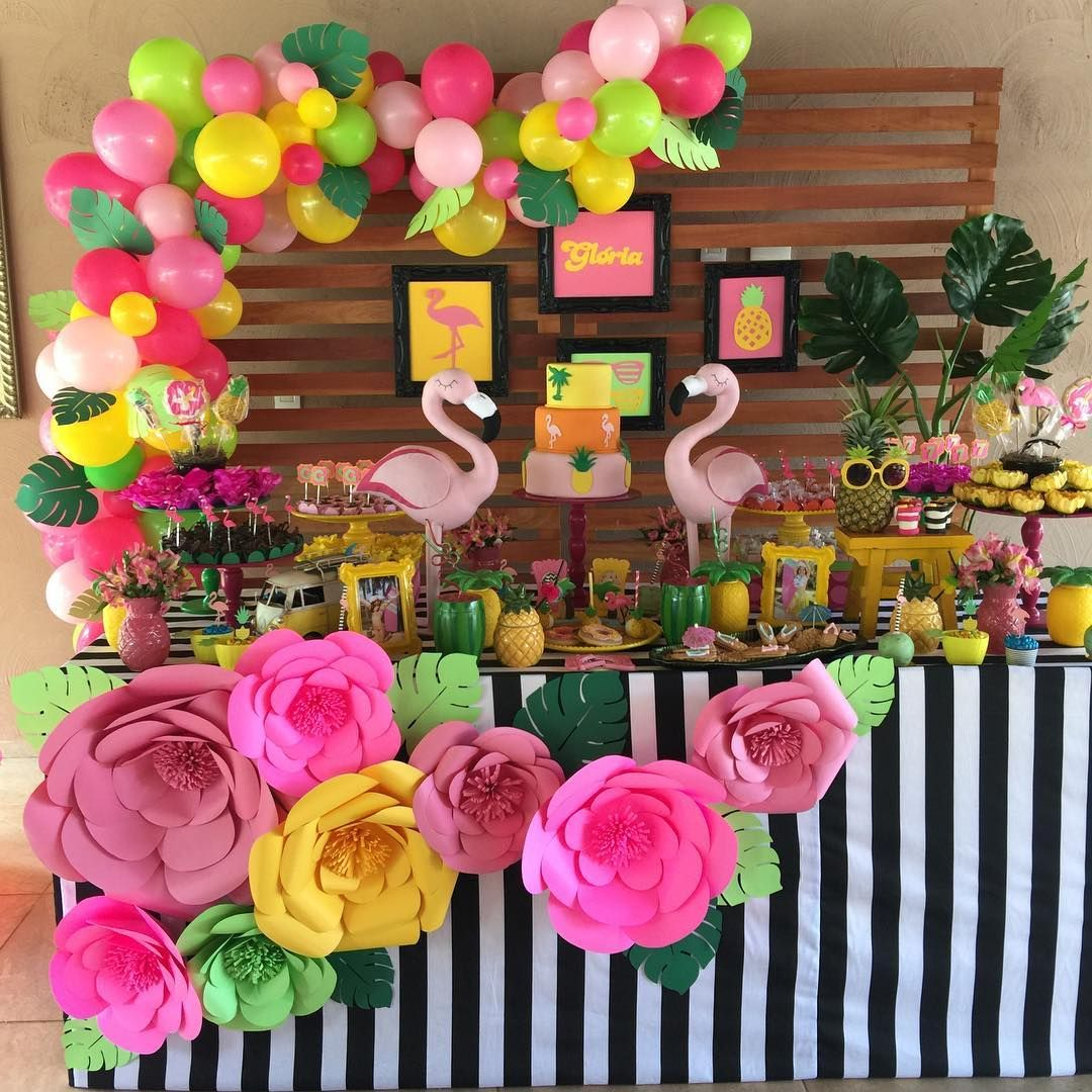 Best Flamingos And Pineapple Luau Party Ideas Pinterest This Month