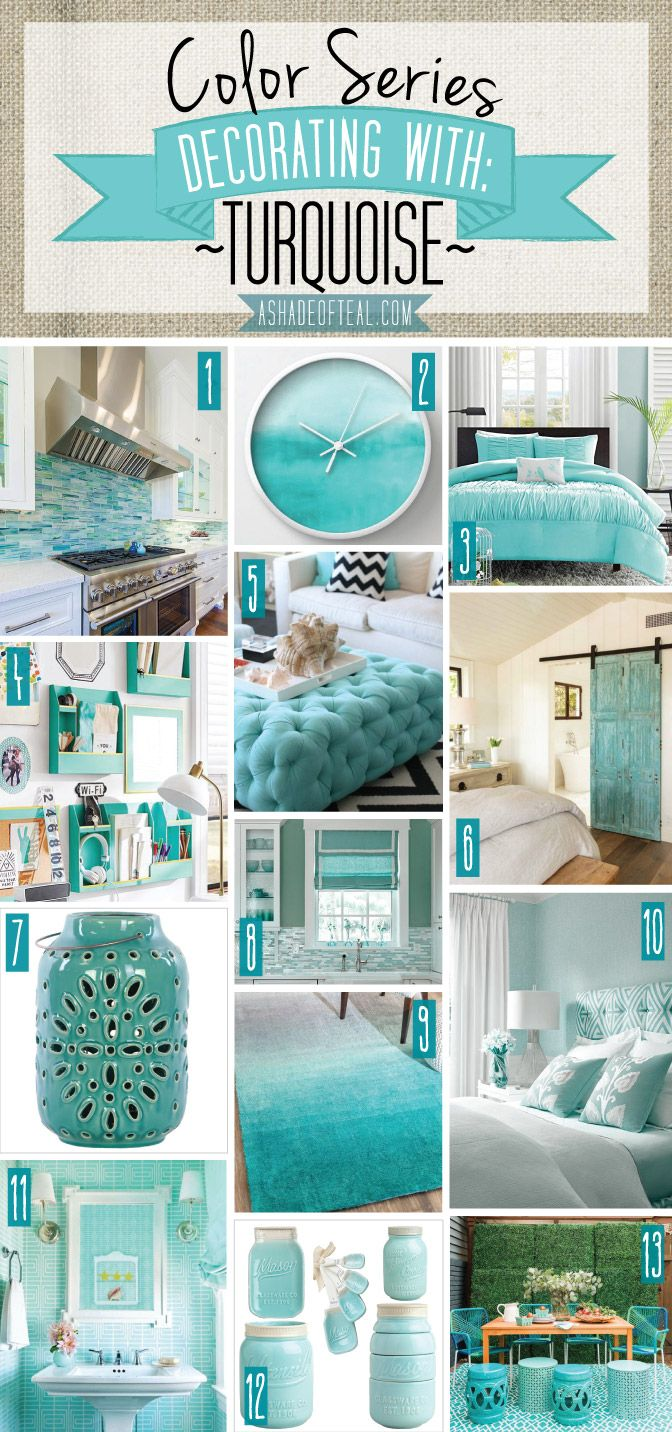 Best Color Series Decorating With Turquoise Color Series This Month