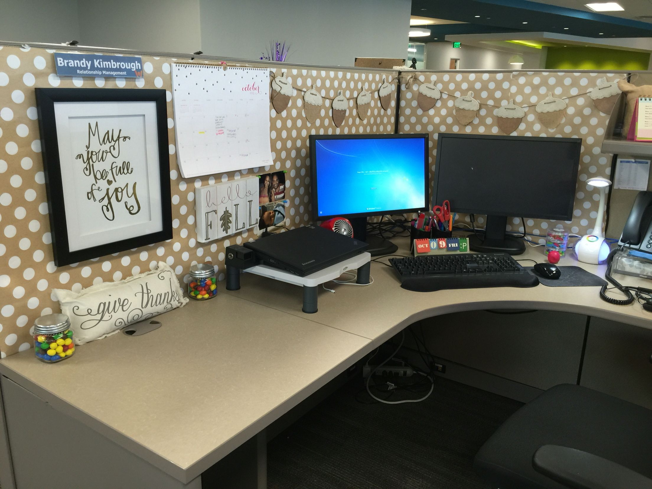 Best Work Cubicle Decor Falledition … Homebound Work This Month