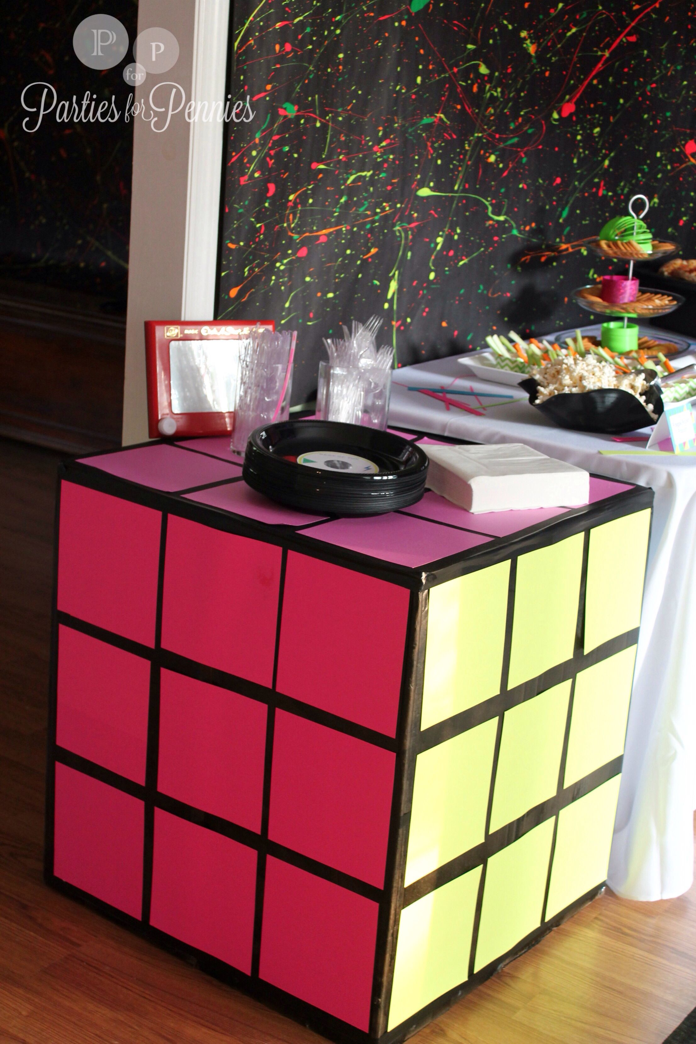 Best Diy Rubix Cube Table Cloth Party Decor And Ideas 80S This Month