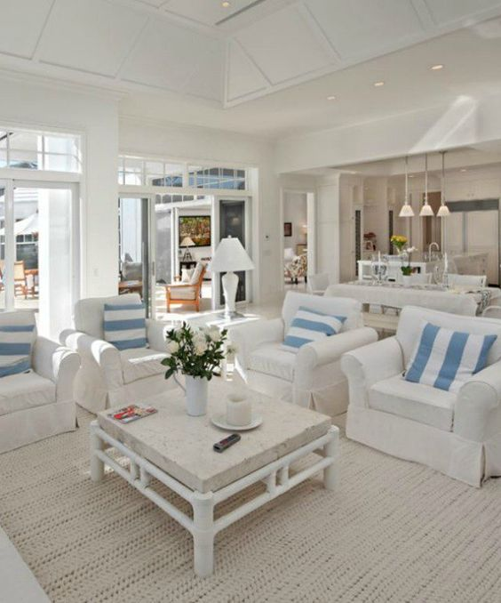 Best 40 Chic Beach House Interior Design Ideas Living Room This Month
