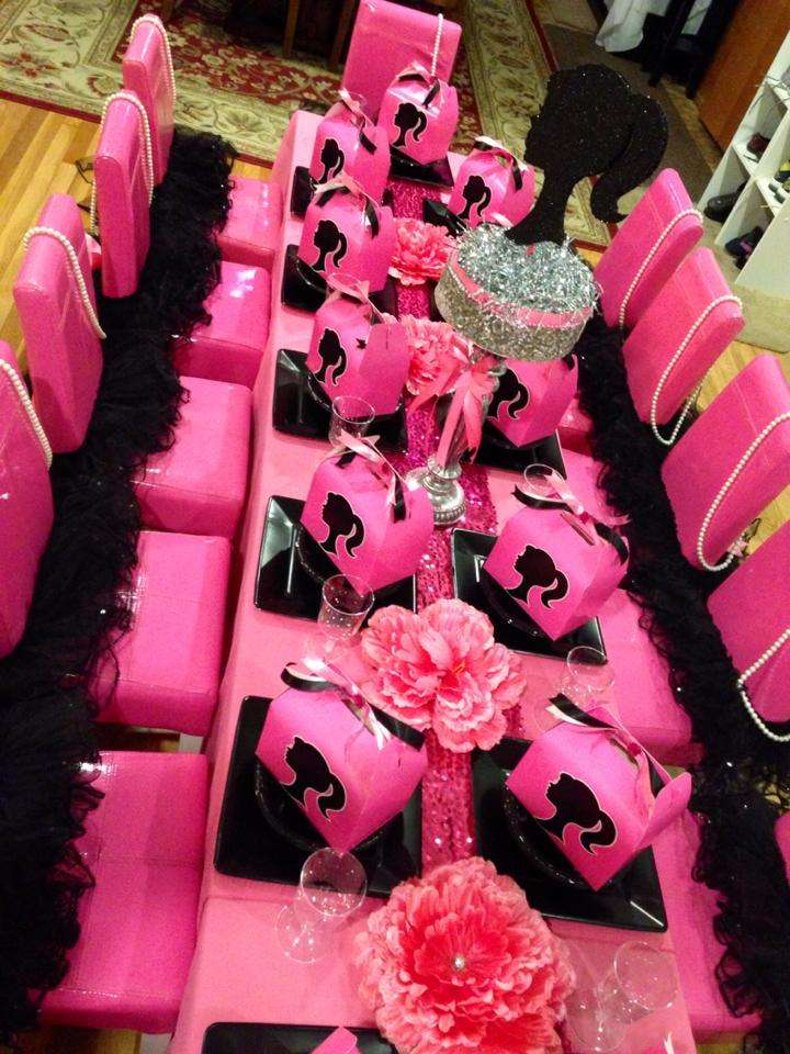 Best Barbie Silhouette Birthday Party Ideas Photo 2 Of 13 This Month