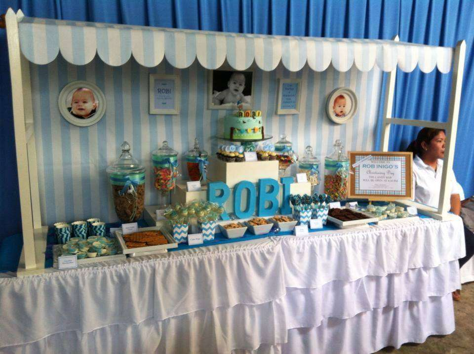 Best Baby Boy Blue Baptism Party Ideas Photo 2 Of 5 Catch This Month
