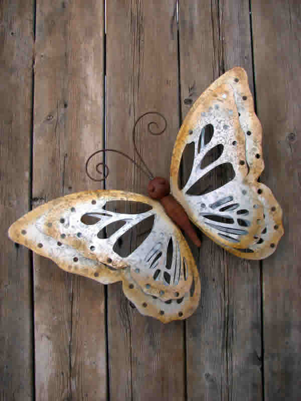 Best Butterfly Galvanized Metal Wall Decor Mondus Distinction This Month