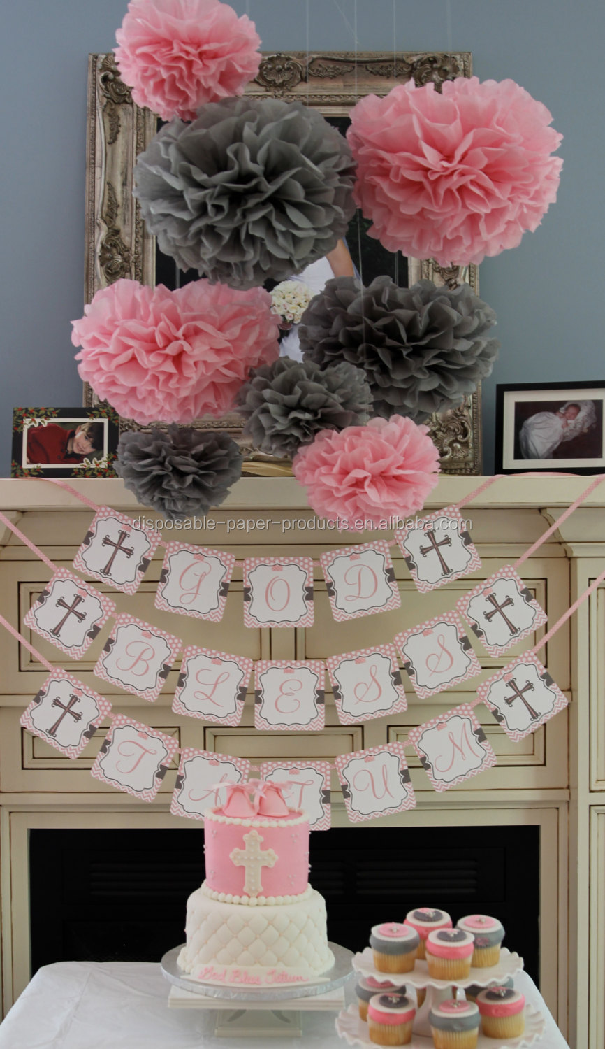 Best Pink Theme Party Ideas Tissue Paper Pom Poms Honeycomb This Month