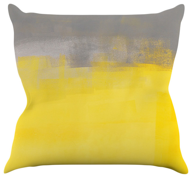 Best Carollynn Tice A Simple Abstract Yellow Gray Throw This Month