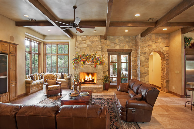 Best Texas Hill Country Style Rustic Living Room Austin This Month