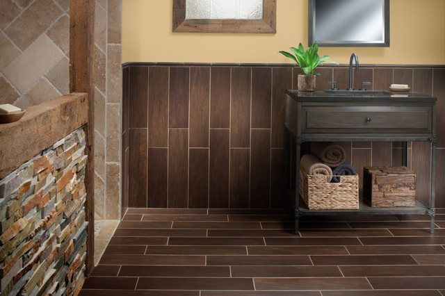 Best Exotica Walnut Wood Porcelain Tile Contemporary This Month