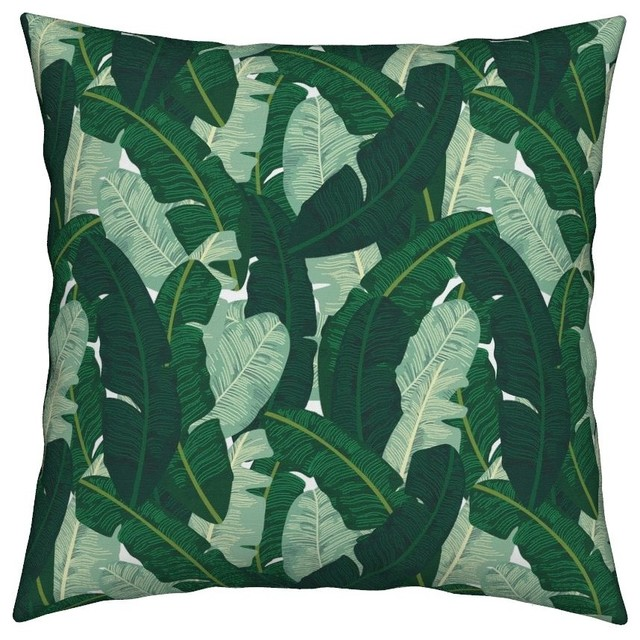 Best Palm Banana Leaf Tropical Preppy Botanical Throw Pillow This Month