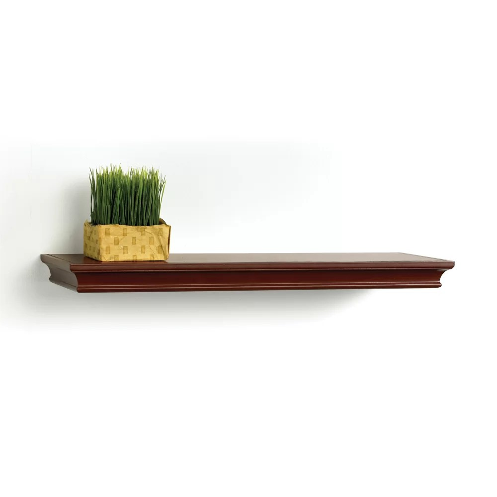 Best Lewis Hyman Inc Inplace Floating Decorative Wood Shelf This Month