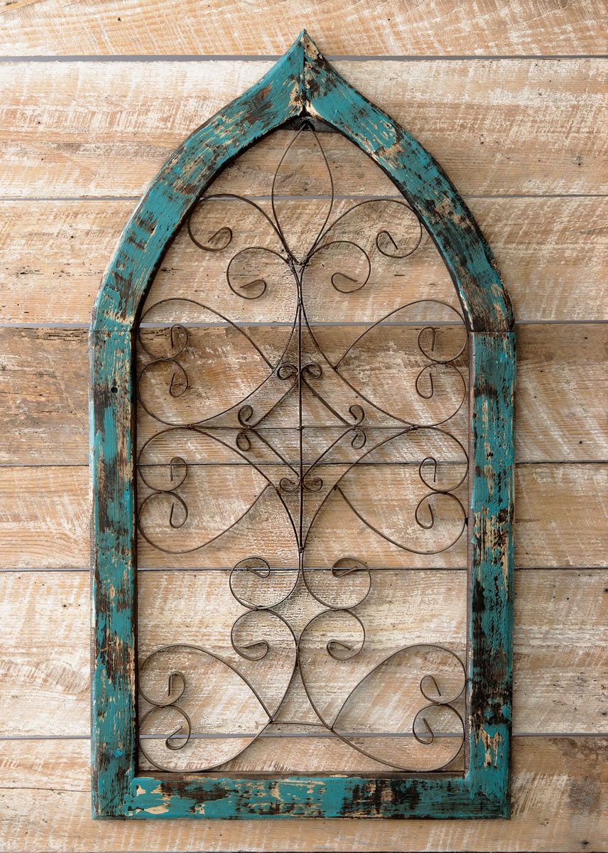 Best Turquoise Spanish Scroll Window Wall Hanging This Month