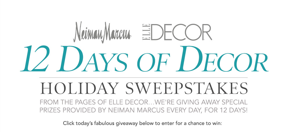 Best Elle Decor S 12 Days Gift Guide Sweepstakes This Month