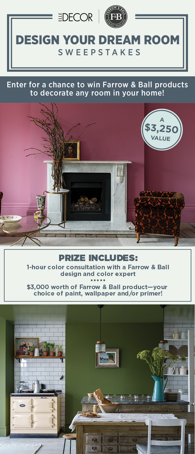 Best Elle Decor Farrow Ball Sweepstakes This Month
