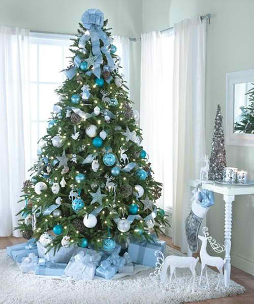 Best Christmas Tree Decorating Ideas Blue Silver Moco Choco This Month