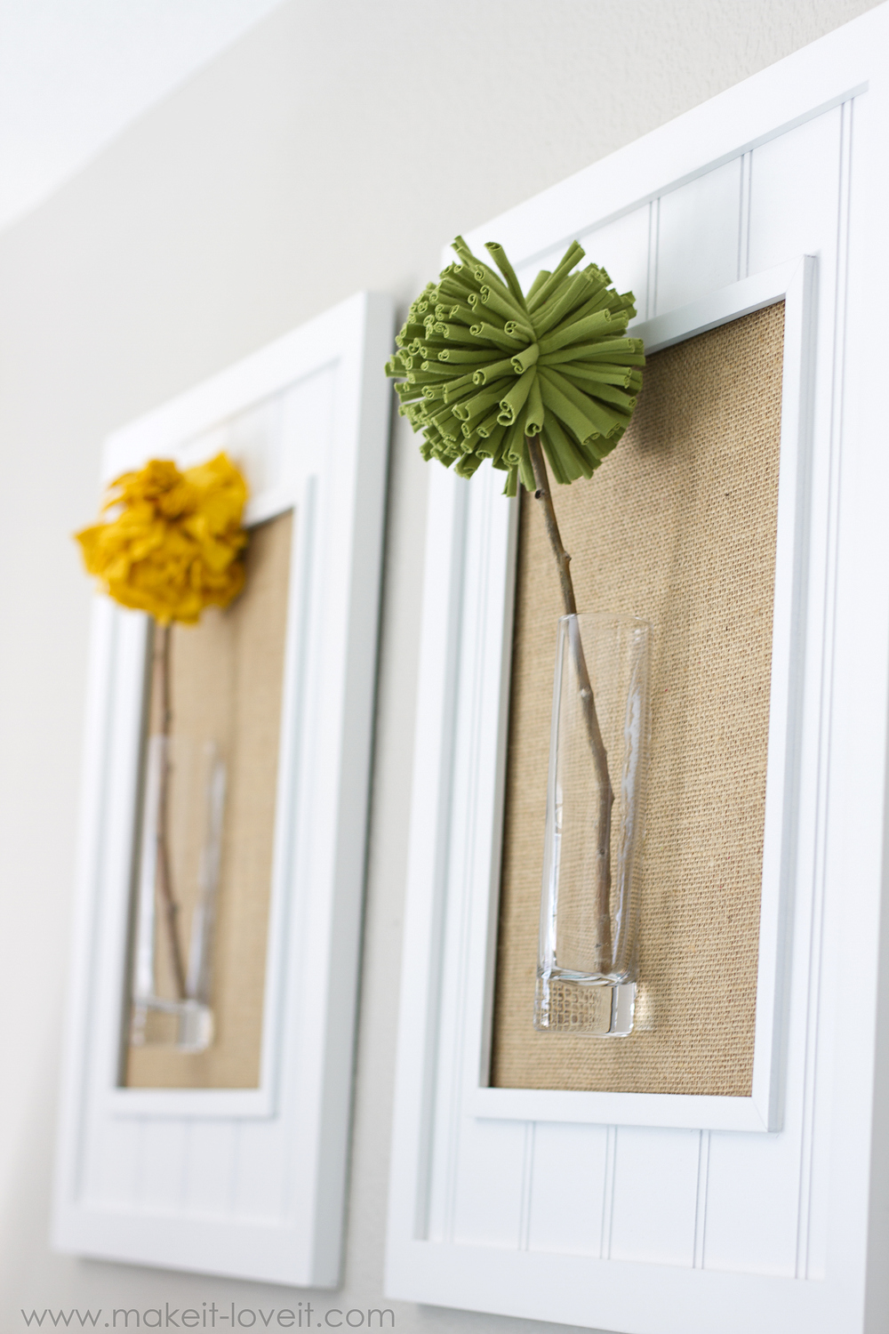 Best Framed Pom Pom Flowers Wall Decor Make It And Love It This Month