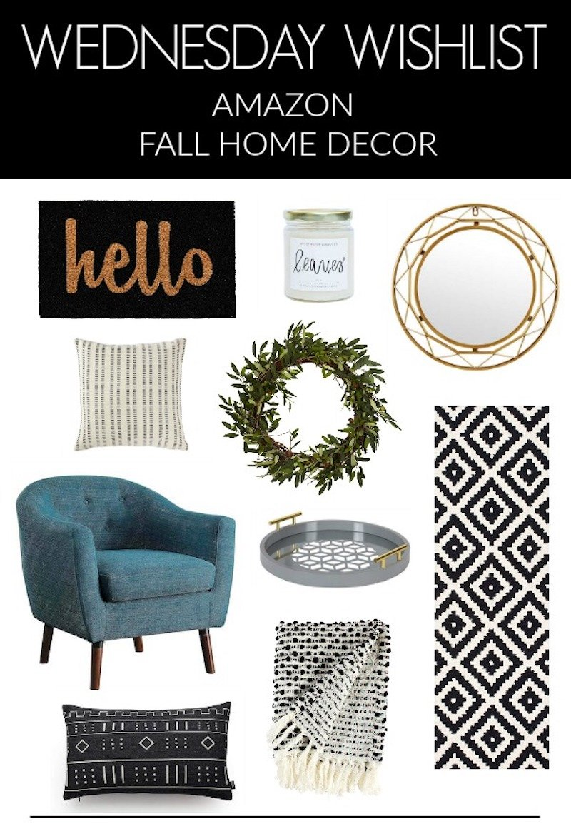 Best Wednesday Wishlist Amazon Fall Home Decor My Kind Of Sweet This Month