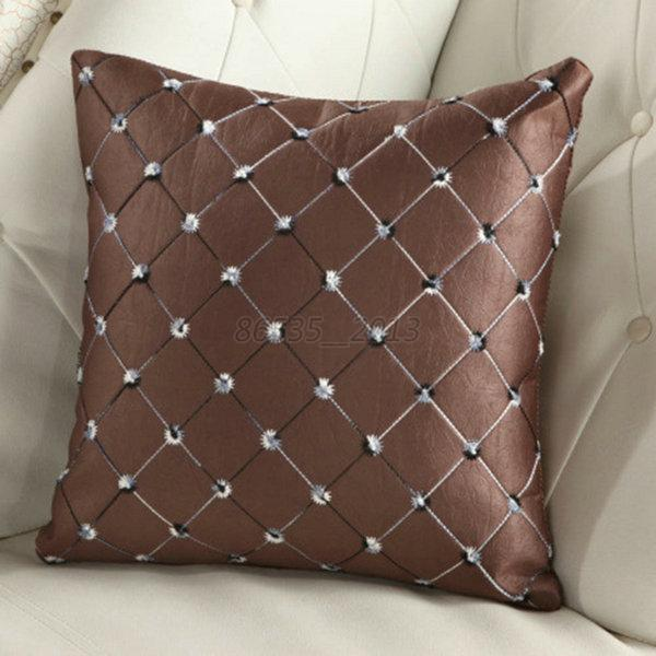 Best Plaid Throw Pillow Case Home Bed Sofa Decorative Cushion This Month