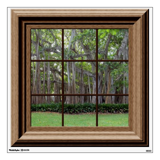 Best Realistic Lawn Trees Fake Window Scene Mural Wall Sticker This Month