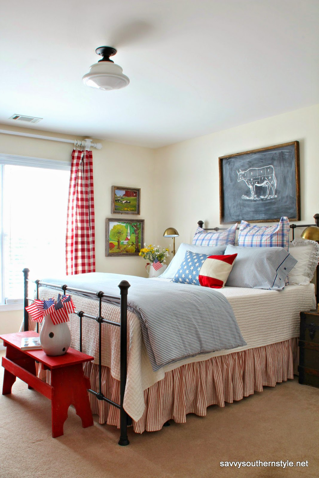 Best Savvy Southern Style Remembering Red White And Blue This Month