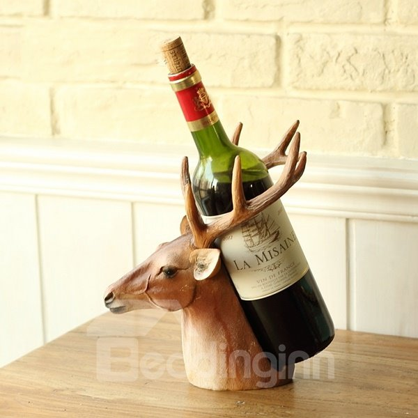 Best Unique Decorative Deer Head Resin 1 Bottle Wine Rack This Month