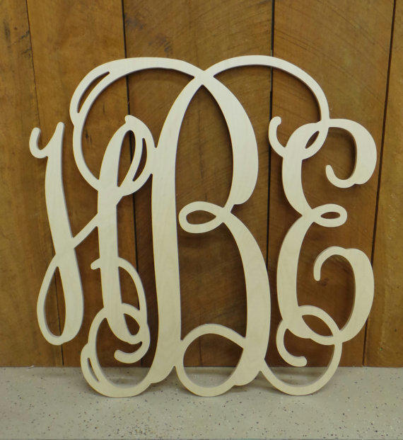 Best Wooden Monogram Monogram Wall Hanging From Letterworld On This Month