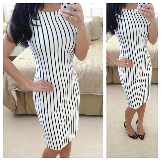 Best Preview Banana Republic Mad Men Vertical Stripe Dress This Month