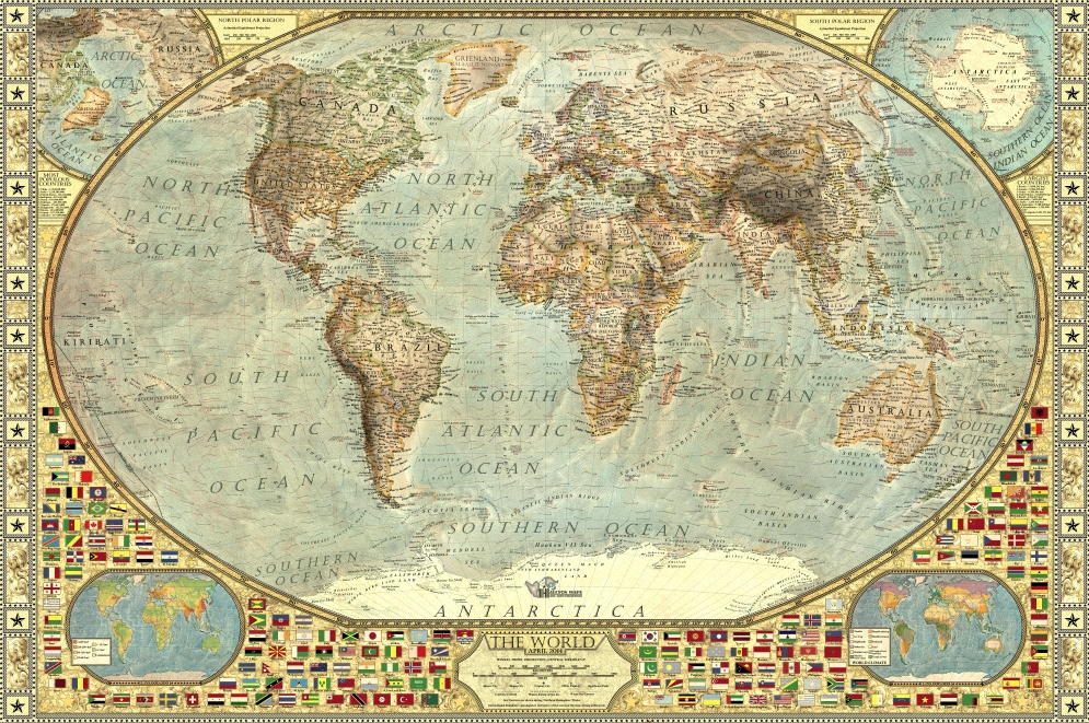 Best The World Decorative — Halcyon Maps This Month