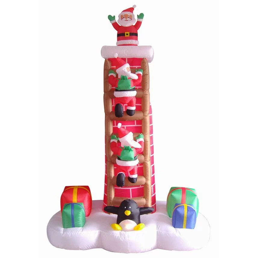 Best Lb International 7 Inflatable Animated Santa Trio On This Month