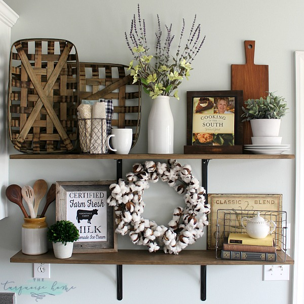 Best Decorating Shelves In A Farmhouse Kitchen This Month