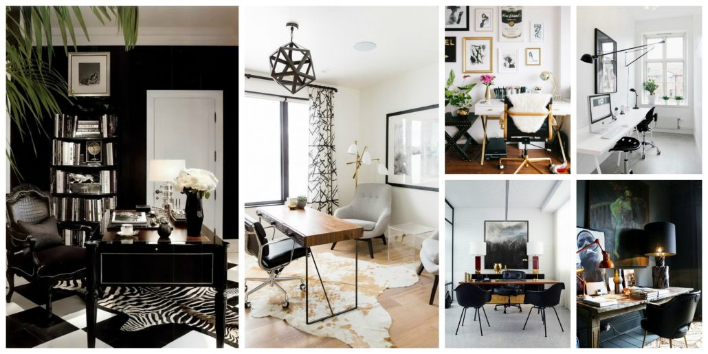 Best Bloggers Office Decor Glam White Versus Mysterious Dark This Month