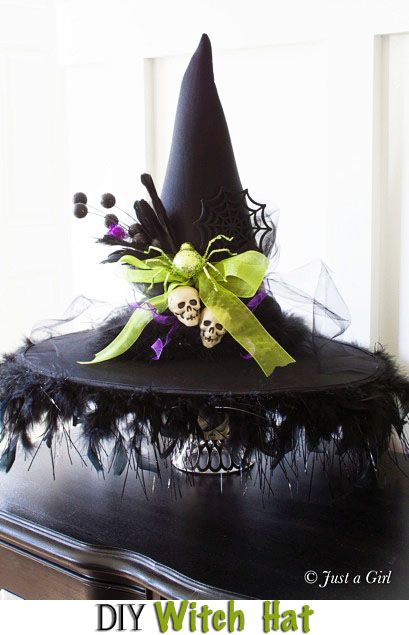 Best Diy Decorated Witch Hat This Month