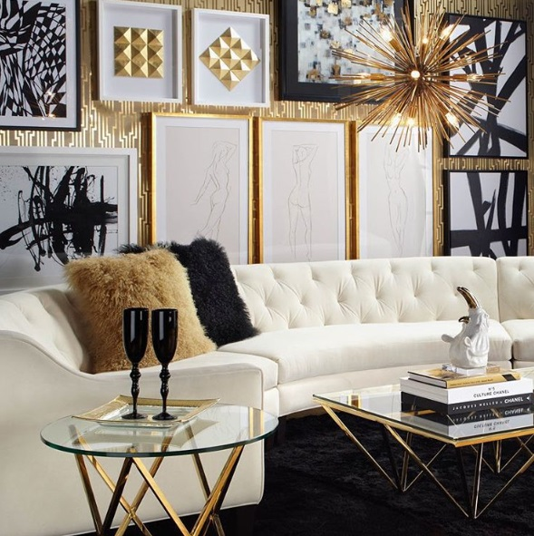 Best Lush Fab Glam Blogazine Luxury Living Glamorous In Gold Home Design This Month