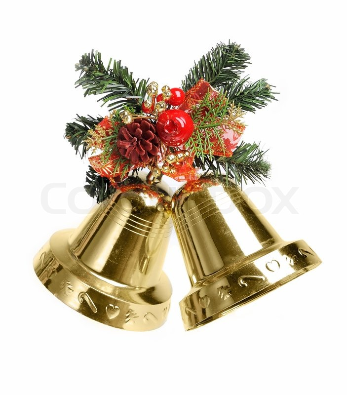 Best Christmas Decoration With Bells Isolated On White This Month