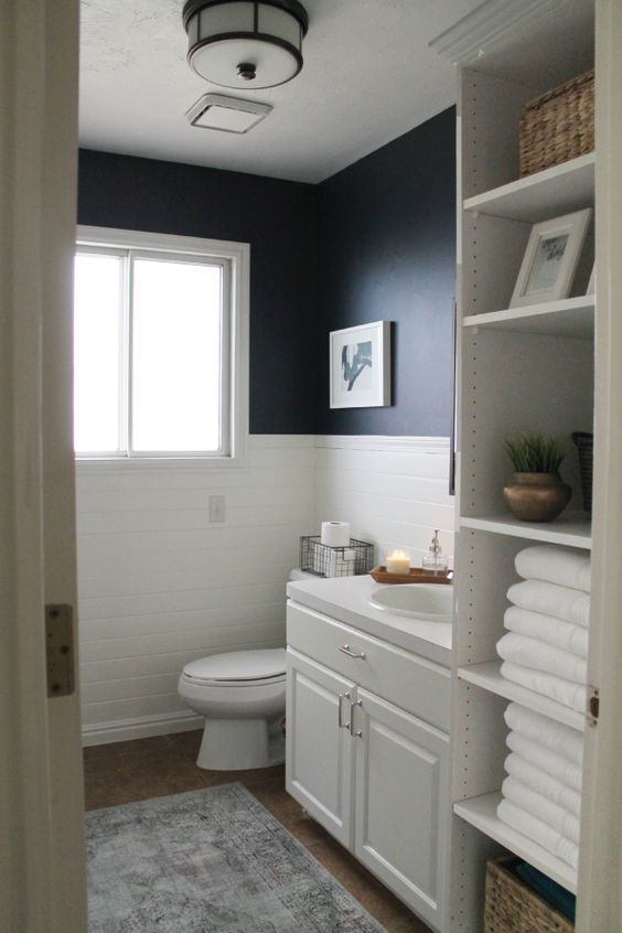 Best Navy Bathroom Decorating Ideas This Month