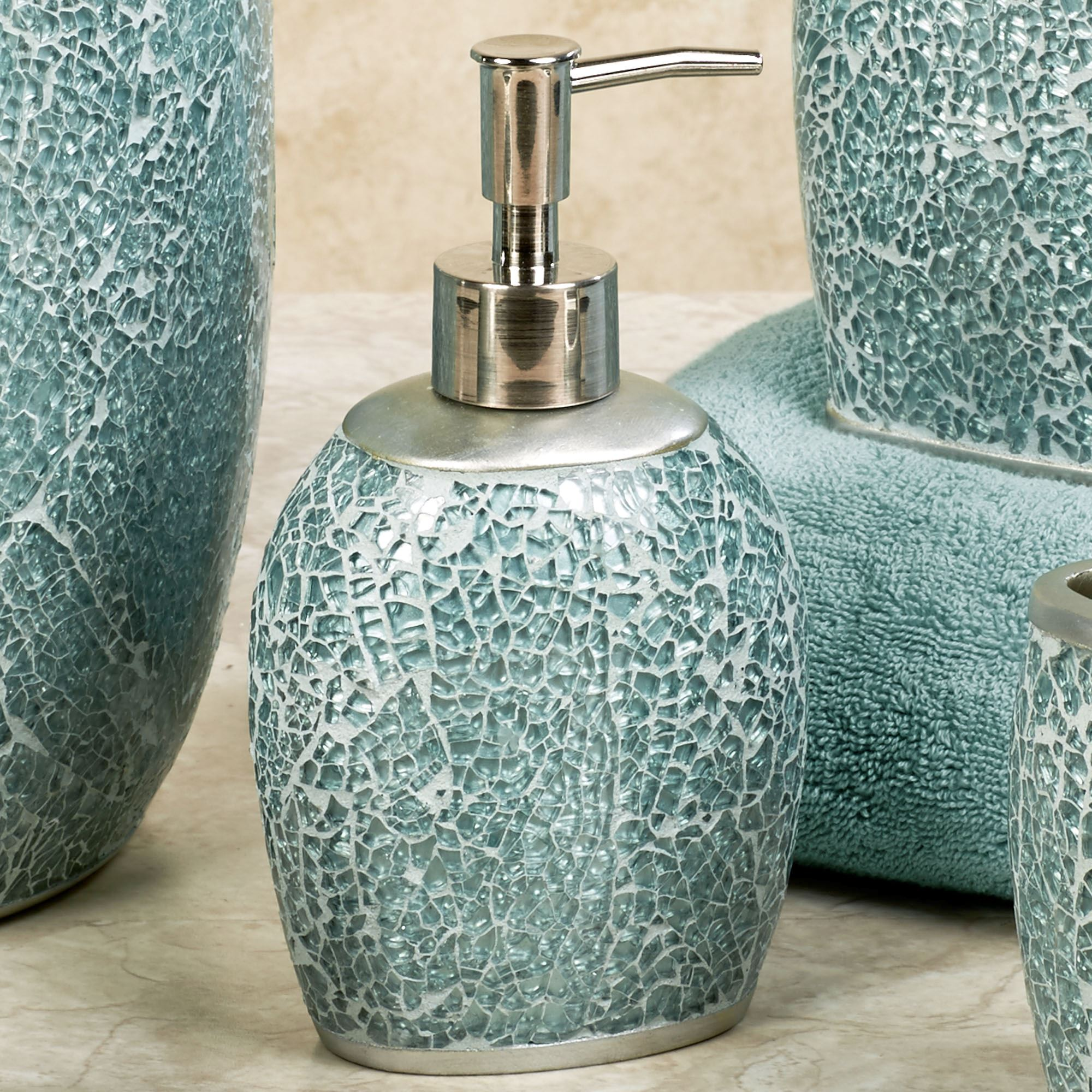 Best Calm Waters Light Aqua Mosaic Bath Accessories This Month