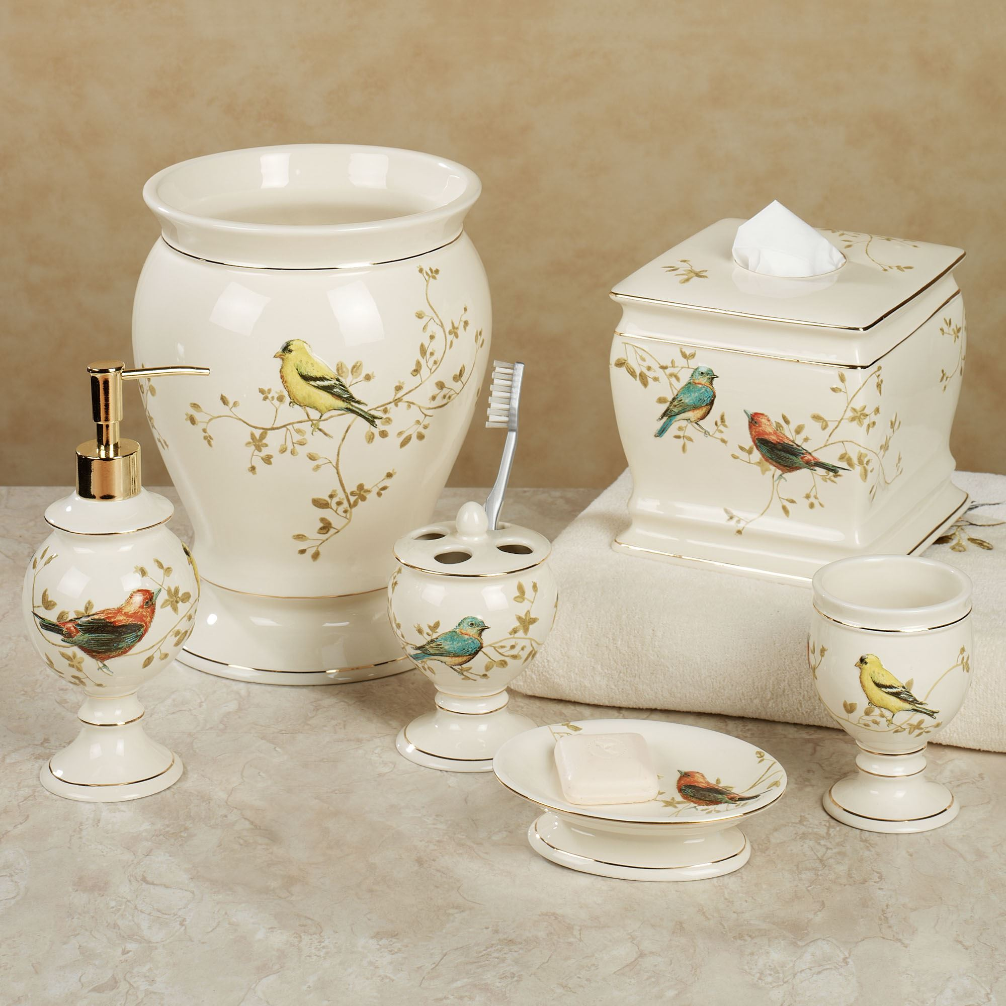 Best Gilded Bird Ceramic Bath Accessories This Month