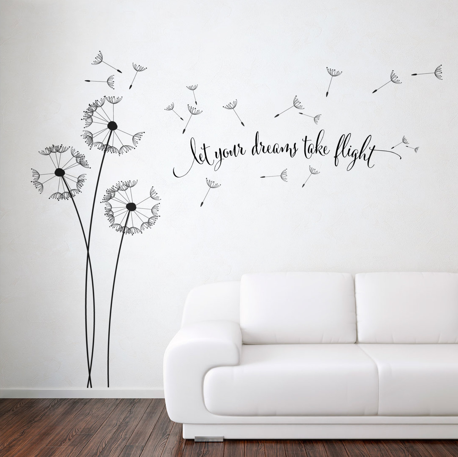 Best Dandelion Blowing With Quote Wall Sticker Floral Sticker This Month