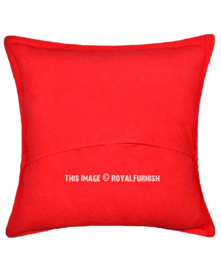 Best Round Circle Needlework Red Cotton Embroidered Throw This Month
